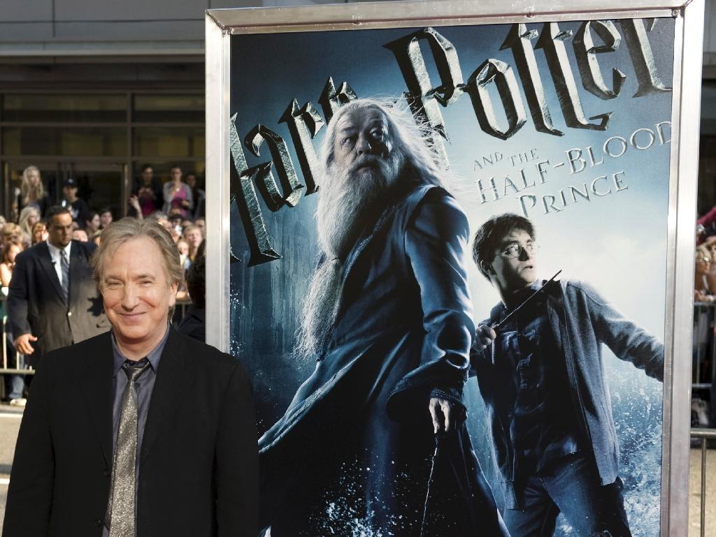 "Alan Rickman played Severus Snape in all eight ""Harry Potter"" films from 2001 to 2011 (AFP Photo/Don Emmert)"