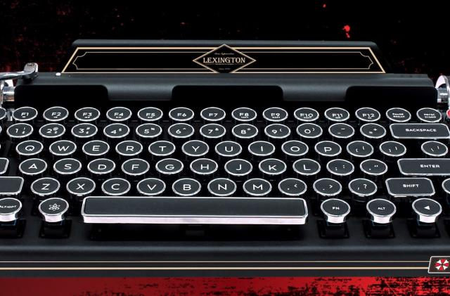 Capcom made a ridiculous typewriter keyboard for 'Resident Evil 2'
