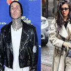 Travis Barker gets Kourtney Kardashian's name tattooed on his chest less than 2 months after going public with their relationship