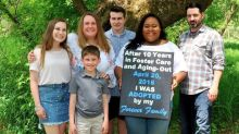 Woman, 24, adopted by family after text asking for a mum