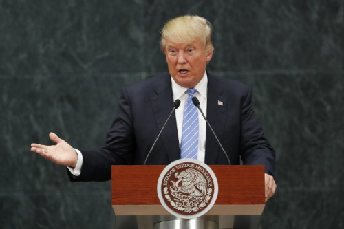 In this Wednesday, Aug. 31, 2016, file photo, Republican presidential candidate Donald Trump speaks during a joint statement with Mexico's President Enrique Pena Nieto in Mexico City. (Photo: Dario Lopez-Mills/AP)
