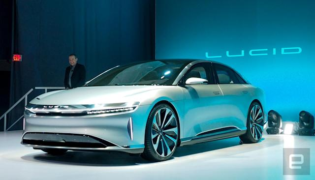Lucid Motors unveils its 400-mile range luxury EV