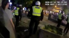 Shocking bodycam footage shows police officers being pelted by objects at illegal north London rave