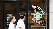 Starbucks to require masks at US cafés as coronavirus cases spike