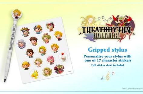 Pre-order Theatrhythm for adorable stylus, and adorable stickers to put on it