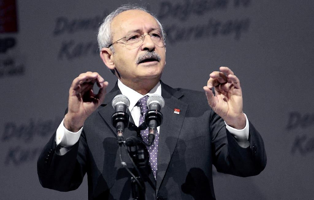 Kemal Kilicdaroglu, the leader of the main opposition Republican People's Party (CHP) (AFP Photo/Adem Altan)