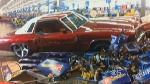 Man Rams Car into Walmart, Starts Clubbing Customers