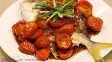 黑醋車厘茄汁配煎倉魚