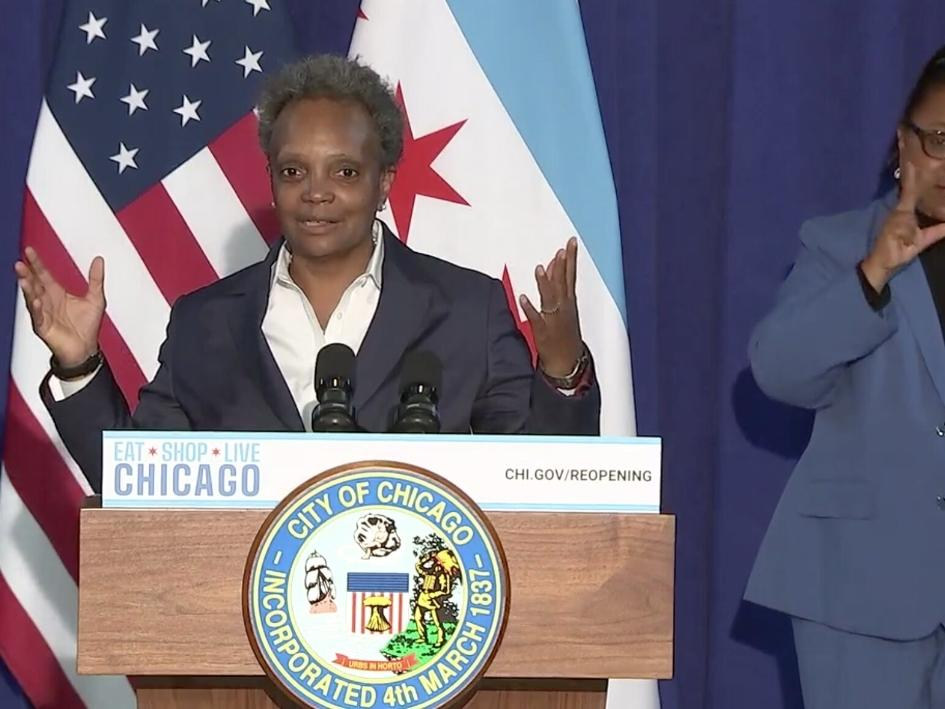 """When it comes to a decision on whether to send kids back to Chicago Public Schools, Mayor Lori Lightfoot on Monday said, """"We're not there, yet."""""""