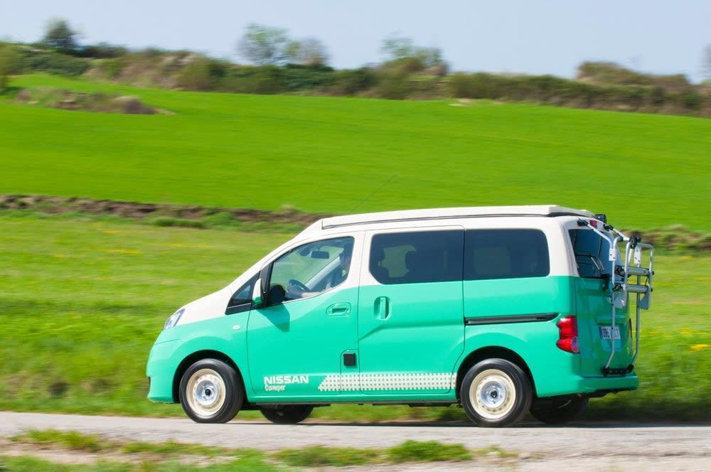 e-NV200 Camper,動力部份採用40千瓦電池,最大續航力可達到275km;另外Nissan還透露會推出大型版本的NV300