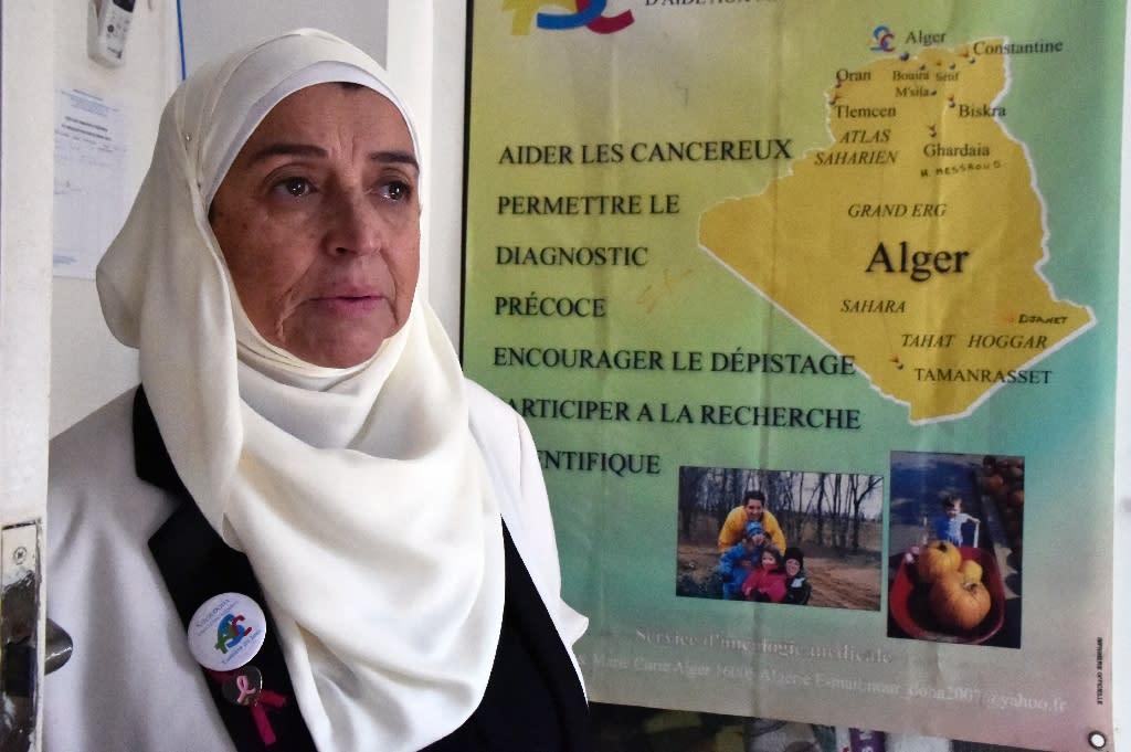 "Many women view their illness as ""shameful"", says Samia Gasmi, the head of the ""Nur Doha"" cancer charity (AFP Photo/RYAD KRAMDI)"