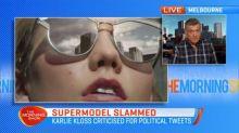 Supermodel slammed for political tweets