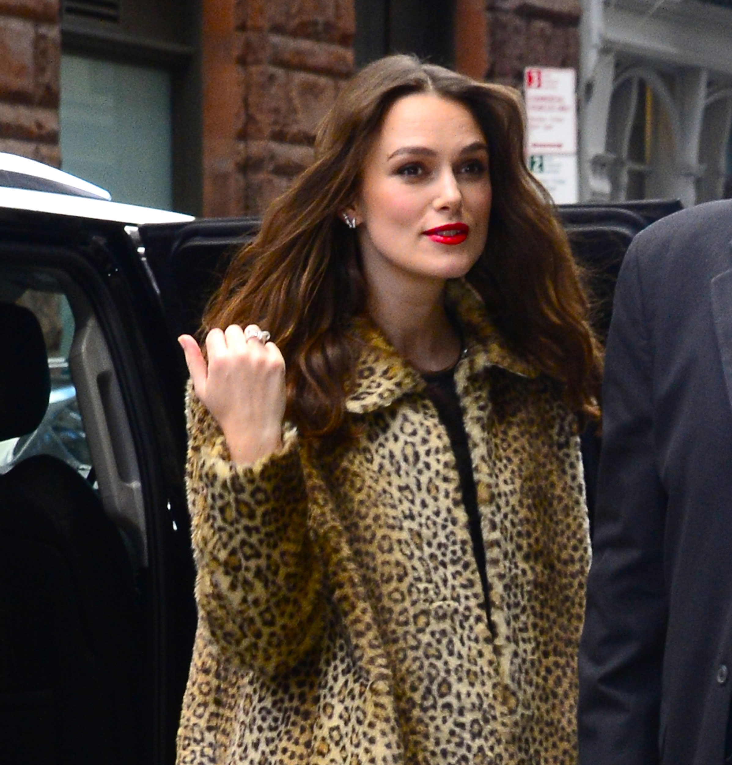 NEW YORK, NY - MARCH 12:  Actress Keira Knightley is seen outside aol build  on March 12, 2019 in New York City.  (Photo by Raymond Hall/GC Images)