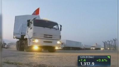 Massive aid convoy leaves Moscow: Report