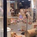 Cleanup Begins After Herald Square Storefronts Damaged in New York City