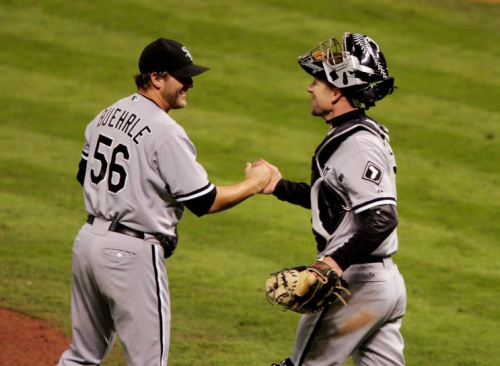 Mark Buehrle got the save in Game 3 of the 2005 World Series. (Getty Images)