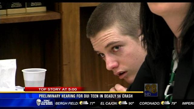 Preliminary hearing for DUI teen in deadly SR-56 crash