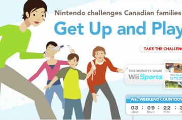Nintendo of Canada lames up gaming with Get Up and Play site