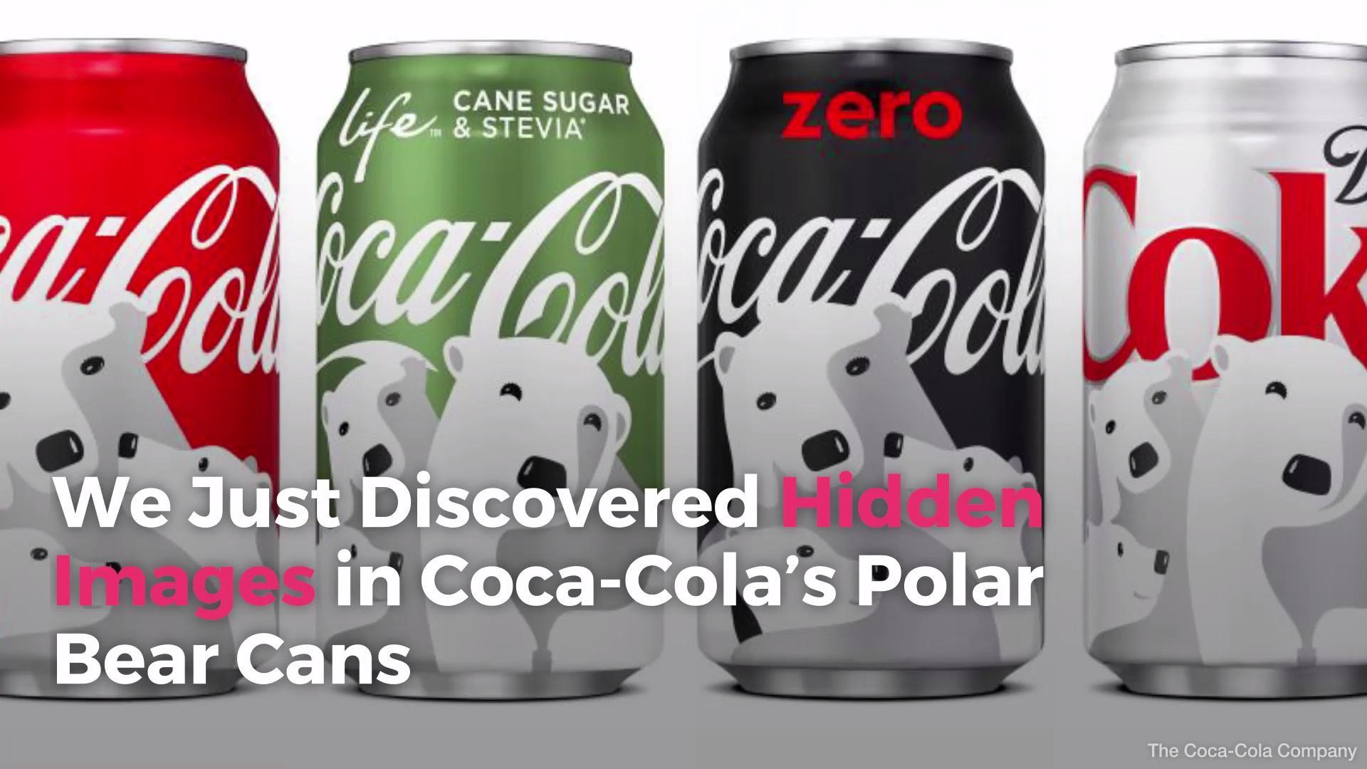 We Just Discovered Hidden Images In Coca Cola S Polar Bear Cans
