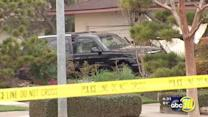Fresno police officer dragged as car hits home, gas line