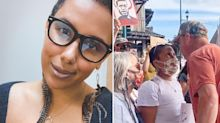 'Always look them in the eye': Woman reveals powerful story behind viral protest moment
