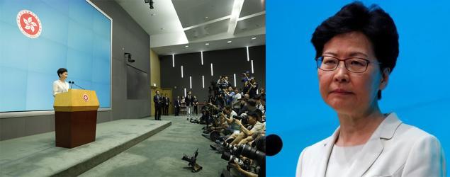 林鄭月娥:向港人真誠道歉