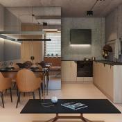 混搭工業風格與簡練現代元素,為小空間營造幸福感