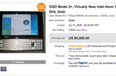 Unreleased OQO model 2+ sells for $4,500 on eBay, must be love