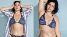 Modelo plus size mostra estrias em foto sem retoques em anúncio na Sports Illustrated