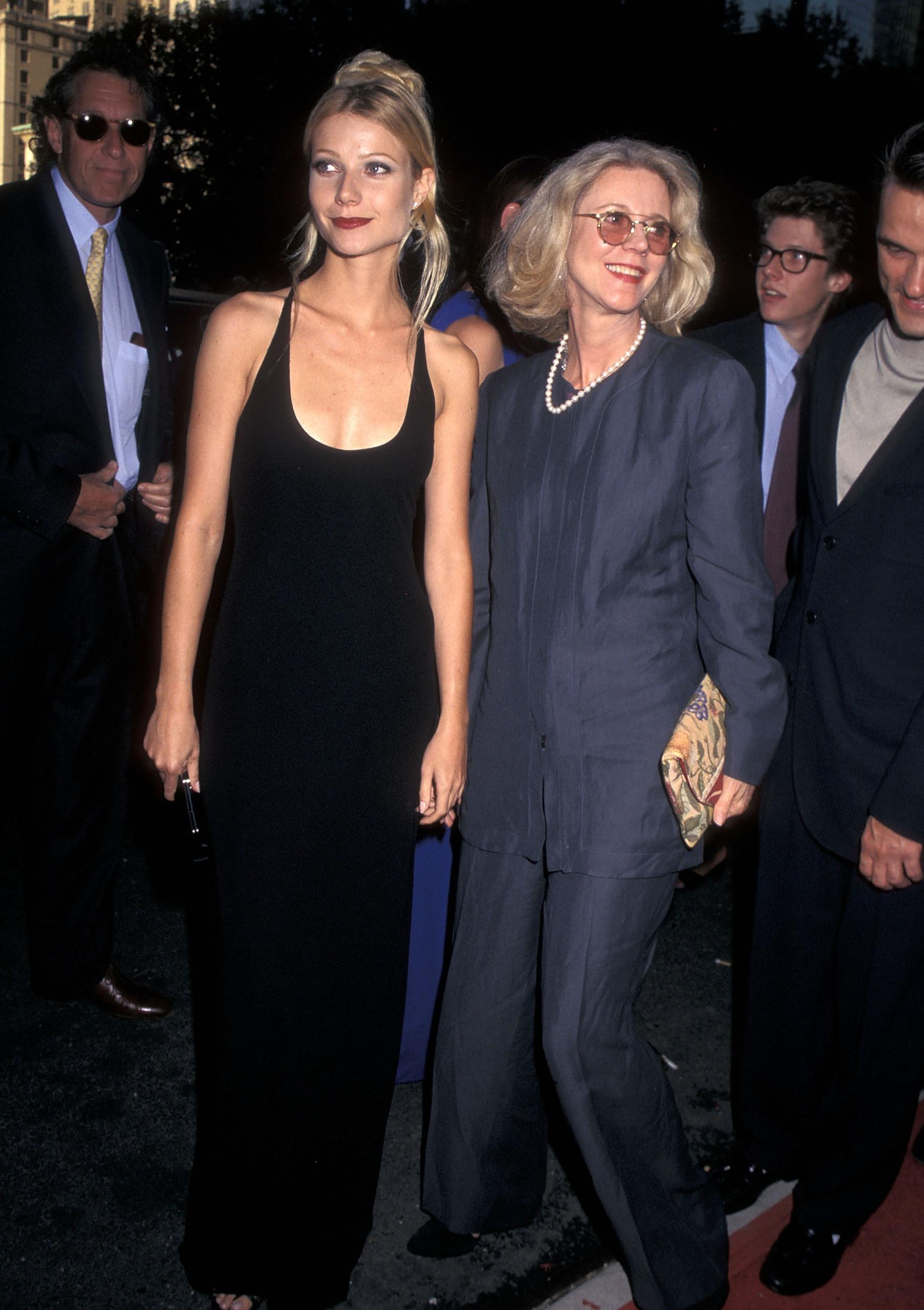Actress Gwyneth Paltrow and actress Blythe Danner attend the 'Emma' New York City Premiere on July 22, 1996 at the Paris Theatre in New York City. (Photo by Ron Galella, Ltd./WireImage)