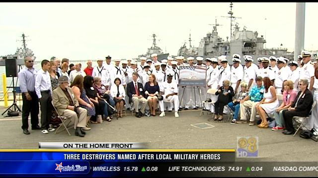 Three destroyers named after local military heroes