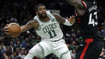 Kyrie's monster game lifts Cetlics over Raptors