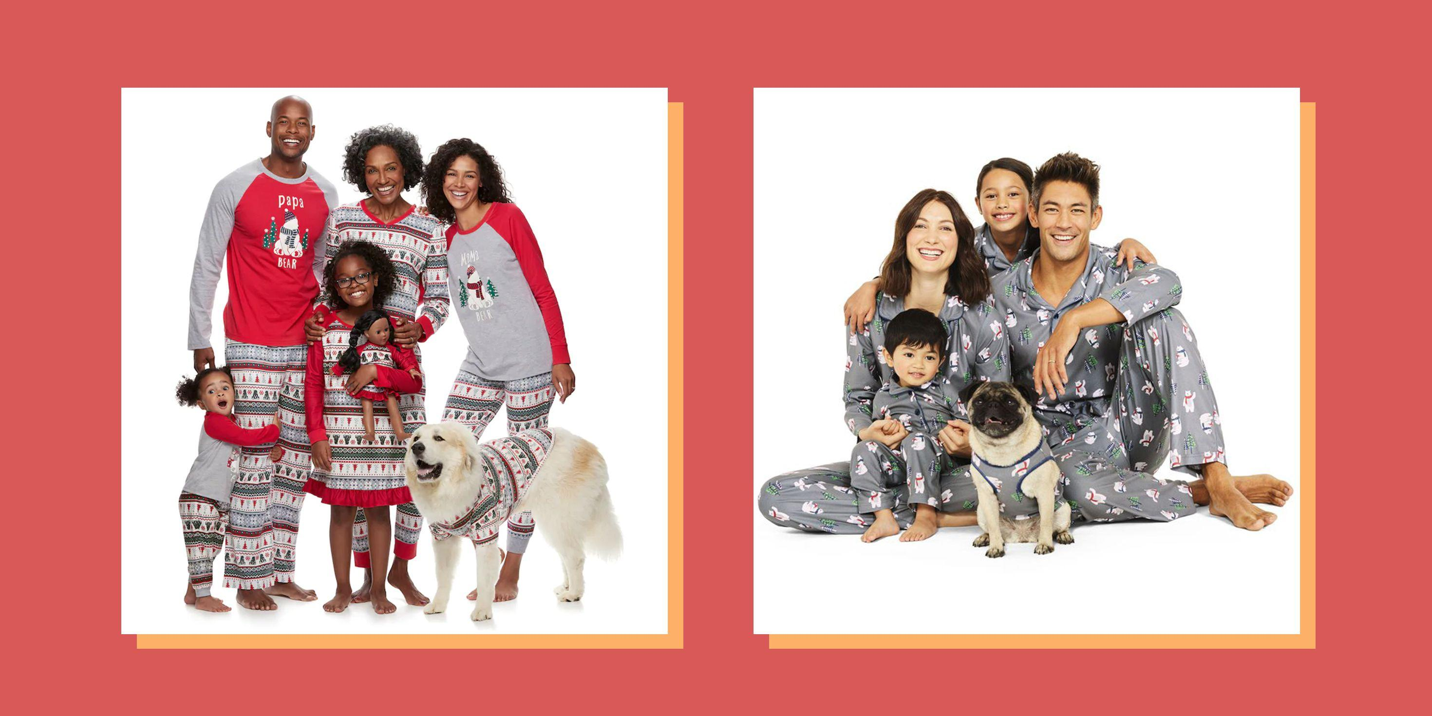 Family Christmas Pajamas With Dog.20 Matching Family Christmas Pajamas For Opening Presents In