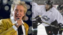 Rod Stewart shares great reaction to son's first international goal (Video)