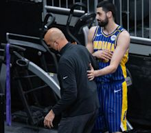 Pacers assistant Greg Foster, center Goga Bitadze get into heated exchange during loss to Kings