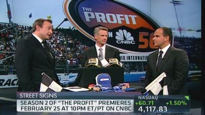 CNBC's 'The Profit' hits the race track