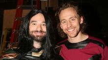 Tom Hiddleston and Charlie Cox swap Marvel roles for Halloween outing