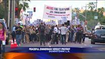 Zimmerman Trial: Peaceful Protests in L.A.; Jurors Speak Out