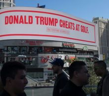 'Trump cheats at golf': Bloomberg mocks president with billboard