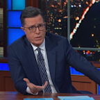 Colbert shares emotional connection to Kobe's crash, makes plea for change