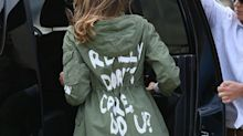 Melania Trump's 'I really don't care, do u?' Zara Jacket Is Selling on eBay for Almost $1000