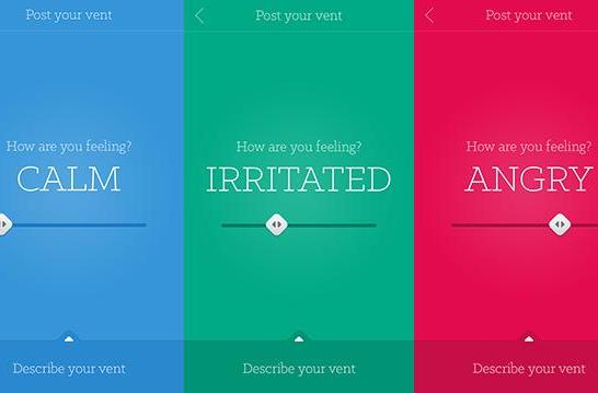 Vent: A semi-anonymous app that feels your pain