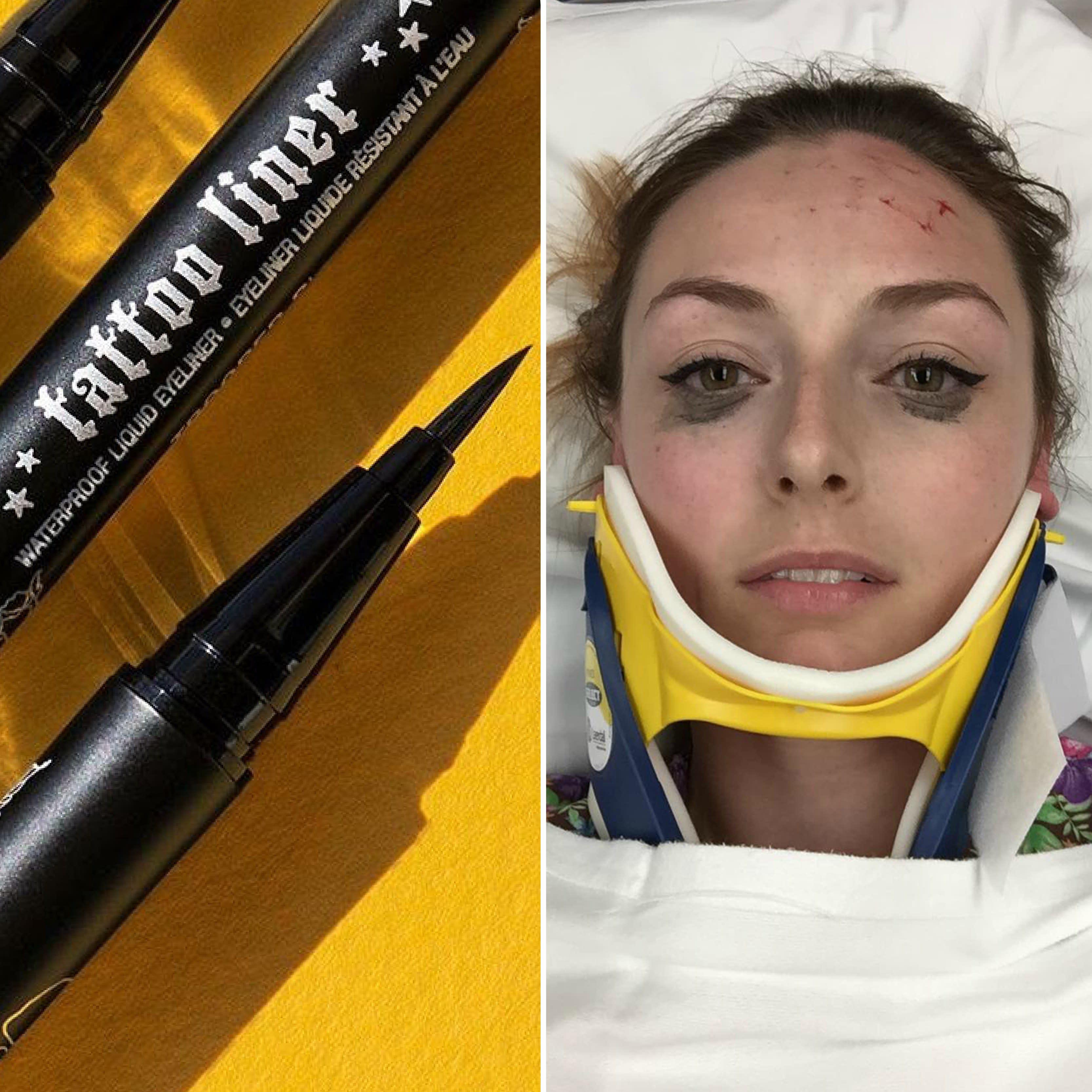 Kat Von D Tattoo Liner Car Accident Makeup Review Goes Viral