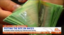 Aussies owed money by friends and family