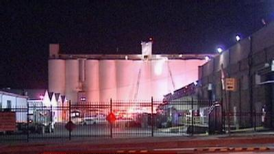 Fire Threatens Blue Diamond Silo