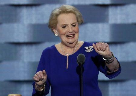 Former U.S. Secretary of State Madeleine Albright speaks at the Democratic National Convention in Philadelphia