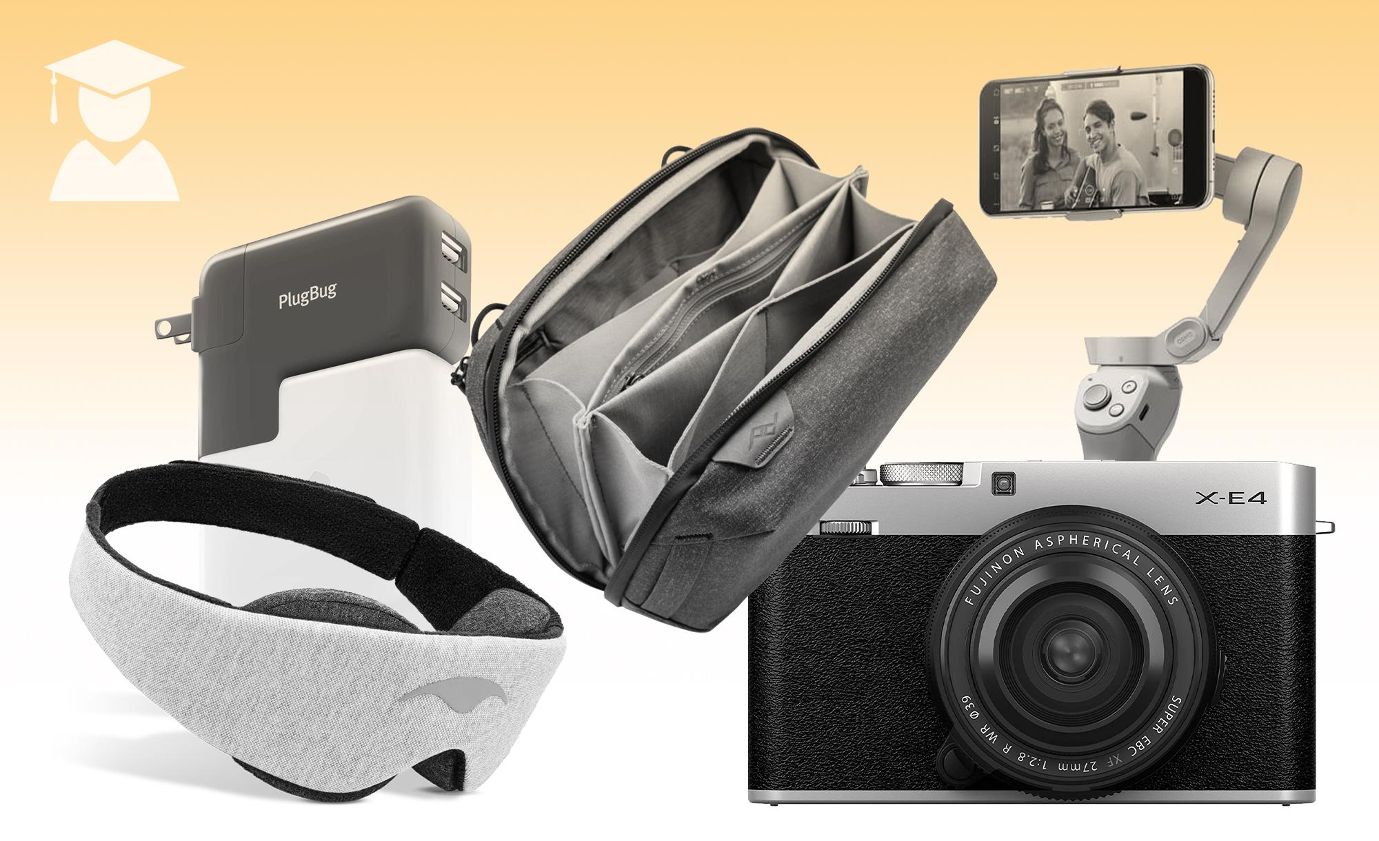 A collage of travel gear.