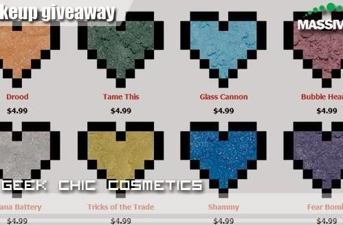 Match your makeup to your guild colors: Win fifteen dollars in makeup from Geek Chic!