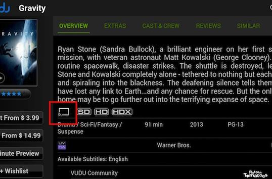 Vudu's 1080p movies and TV shows are now streaming on Chromecast