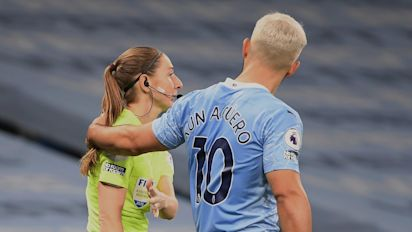 Sergio Aguero: Pep Guardiola defends Manchester City striker over Sian Massey-Ellis incident